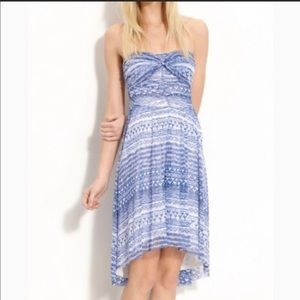 Free People Strapless Dress Tribal Aztec sz Large